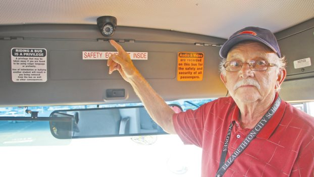 Bus Driver gives bus tour